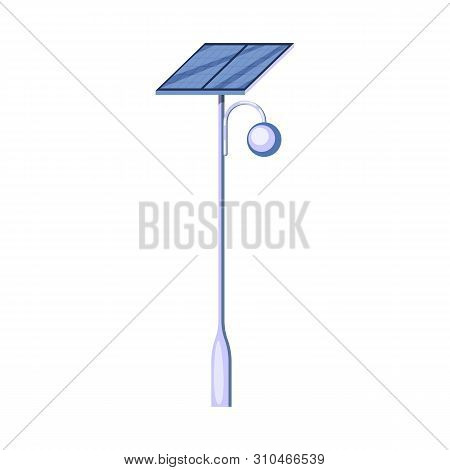 Vector Illustration Of Lamppost And Solar Sign. Collection Of Lamppost And Alternative Vector Icon F