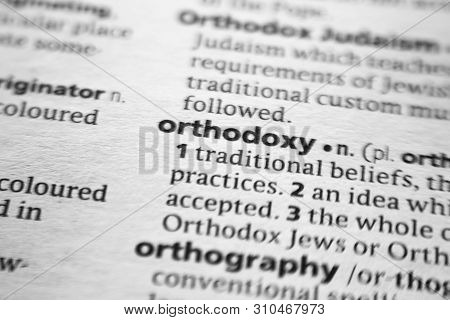 Word Or Phrase Orthodoxy In A Dictionary