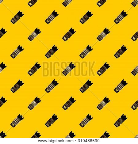 Interchangeable Lens For Camera Pattern Seamless Vector Repeat Geometric Yellow For Any Design