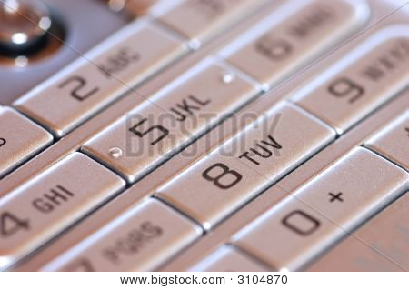 part of the keyboard of a mobile phone