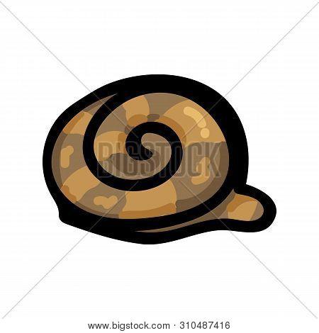 Cute Snail Hiding In Shell Cartoon Vector Illustration Motif Set. Hand Drawn Isolated Garden Creepy