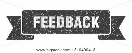 Feedback Grunge Ribbon. Feedback Sign. Feedback Banner