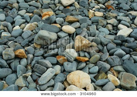 beach scene with stones in Tasmania