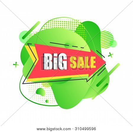 Promotional Banner Vector, Big Sale And Clearance, Price Reduction Trading And Wholesale Of Shop. Sp