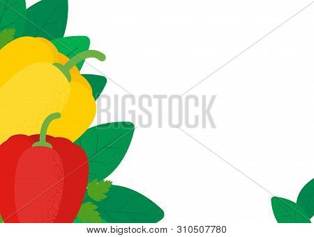 Healthy Organic Isolated Vegetables Background Concept For Design Menu, Poster, Flyer. Veg Dish In F