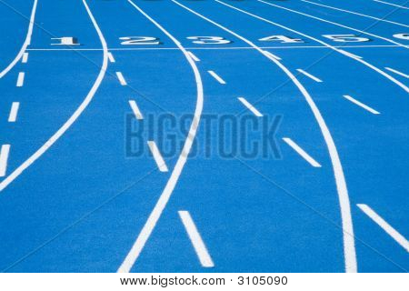 Blue Race Track Starting Line 2