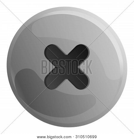 Phillips Head Screw Icon. Cartoon Of Phillips Head Screw Vector Icon For Web Design Isolated On Whit