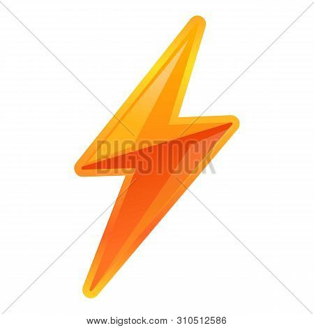 poster of Vibrant lightning bolt icon. Cartoon of vibrant lightning bolt vector icon for web design isolated on white background