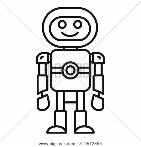 Humanoid Machine Icon. Outline Humanoid Machine Vector Icon For Web Design Isolated On White Backgro