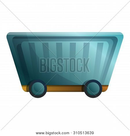 Mineral Wagon Cart Icon. Cartoon Of Mineral Wagon Cart Vector Icon For Web Design Isolated On White