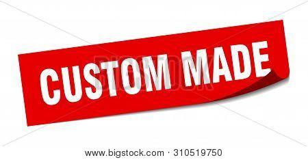Custom Made Sticker. Custom Made Square Isolated Sign. Custom Made