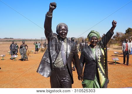 2 July 2019 - Mandela Sculpture At Maropeng, The Cradle Of Humankind, Johannesburg, South Africa