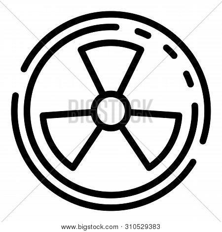 Radiation Symbol Icon. Outline Radiation Symbol Vector Icon For Web Design Isolated On White Backgro