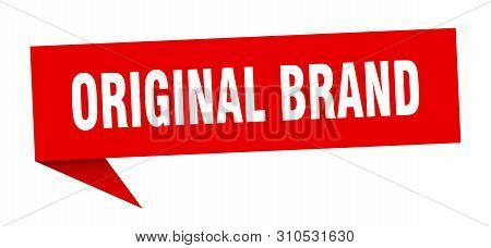 Original Brand Speech Bubble. Original Brand Sign. Original Brand Banner