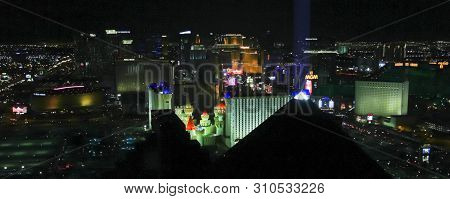 Las Vegas, Nevada, July 3. The Skyfall Lounge On July 3, 2019, In Las Vegas, Nevada, Usa. A Night Sh