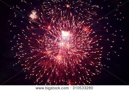 Cheap Beautiful Bright Fireworks, Red, In The Night Sky For Any Purpose