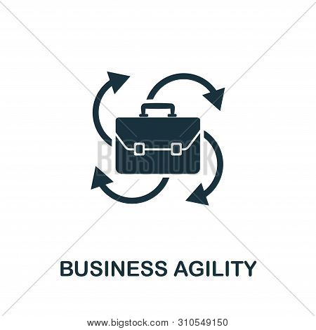 Business Agility Vector Icon Symbol. Creative Sign From Agile Icons Collection. Filled Flat Business