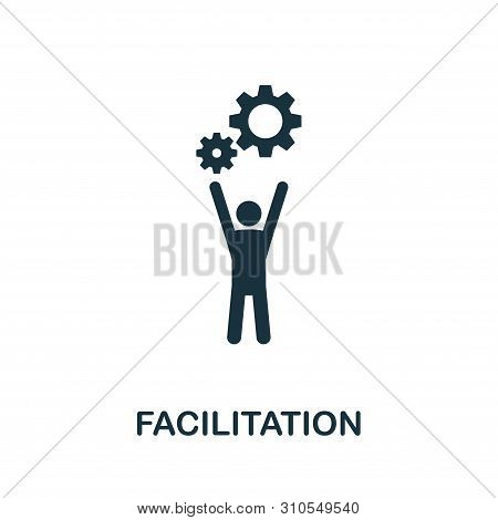 Facilitation Vector Icon Symbol. Creative Sign From Agile Icons Collection. Filled Flat Facilitation