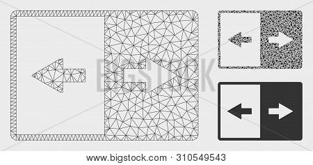 Mesh Invert Model With Triangle Mosaic Icon. Wire Carcass Polygonal Mesh Of Invert. Vector Mosaic Of