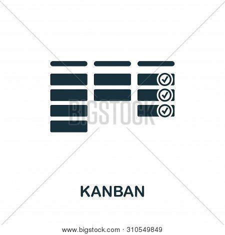 Kanban Icon Symbol. Creative Sign From Agile Icons Collection. Filled Flat Kanban Icon For Computer