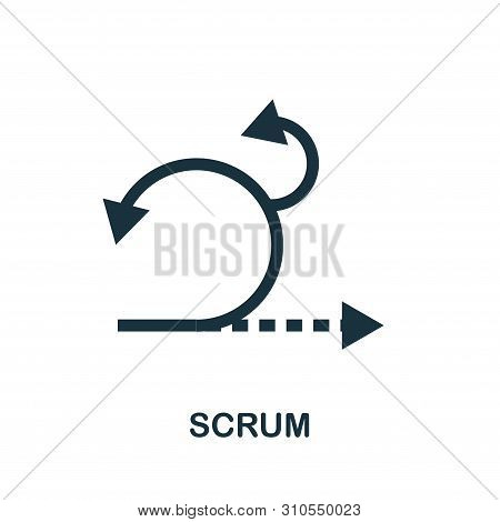 Scrum Vector Icon Symbol. Creative Sign From Agile Icons Collection. Filled Flat Scrum Icon For Comp