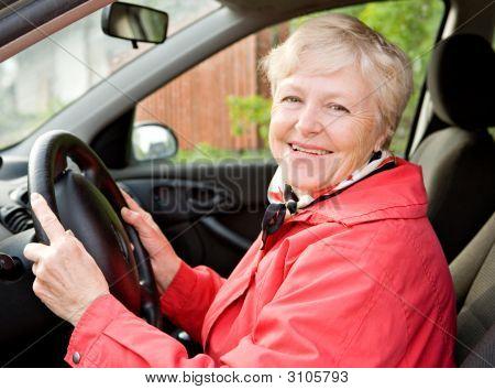 Granny In A Car