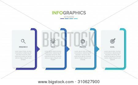 Vector Infographic Label Template With Icons. 4 Options Or Steps. Infographics For Business Concept.
