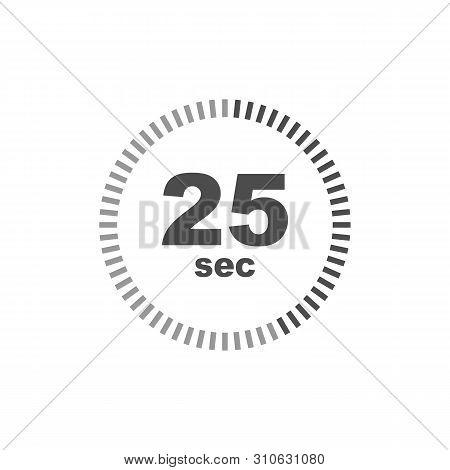 Timer 25 Sec Icon. Simple Design