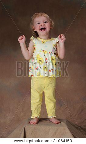 A happy little girl