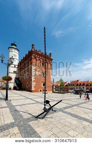Sandomierz, Poland 06 Jul 2018, Town Hall In Sandomierz