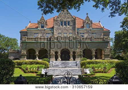 Landmark Mansion Of Richardsonian Romanesque Style Architecture And Gardens In New Orleans Louisiana