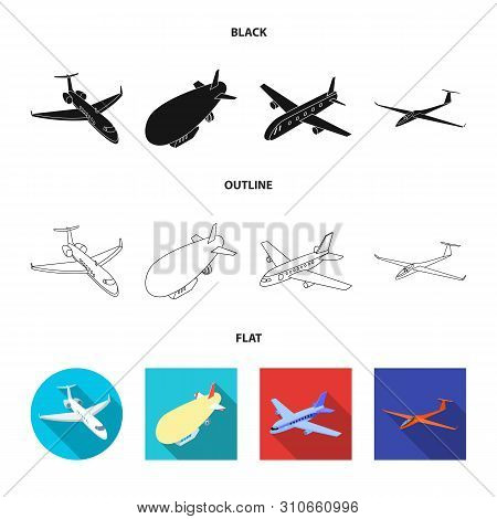 Isolated Object Of Transport And Object Icon. Collection Of Transport And Gliding Stock Symbol For W