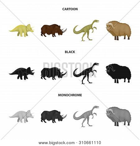 Vector Design Of Animal And Character Icon. Set Of Animal And Ancient Stock Symbol For Web.