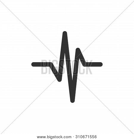 Cardiogram Line Pulse Medicare Logo Template Illustration Design. Vector Eps 10.
