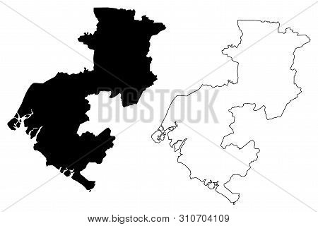 Boke Region (subdivisions Of Guinea, Guinea-conakry, French Guinea) Map Vector Illustration, Scribbl