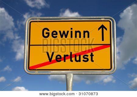 German Road Sign Deficit, And Profit