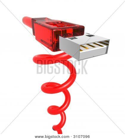 Red Spiral Usb