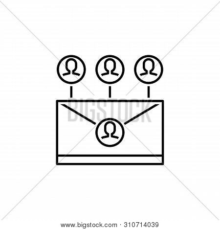 Business Seo, Intranet Line Icon. Teamwork At The Idea. Signs And Symbols Can Be Used For Web, Logo,