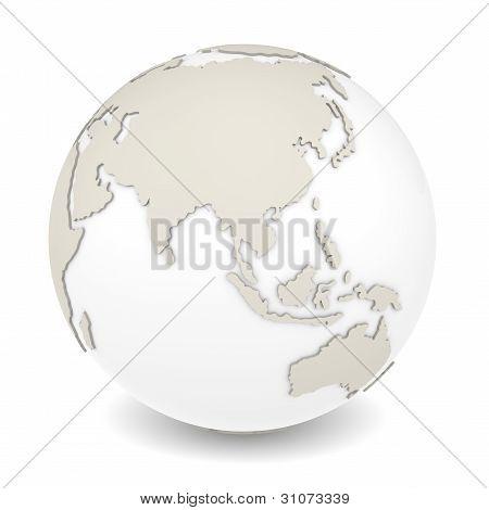 A vista de rotação da terra