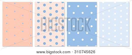 Dot Pattern Set. Baby Background. Vector Illustration. Polka Dot Pattern.