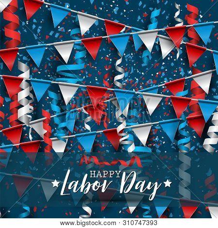 Happy Labor Day Usa Vector Photo Free Trial Bigstock