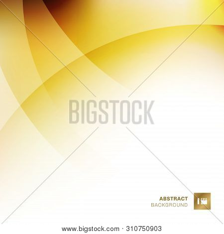 Abstract Yellow Gradients Color Overlapping Circles Background. Creative Template Design Geometric G