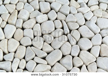 Pebbles Ground As A Background Image