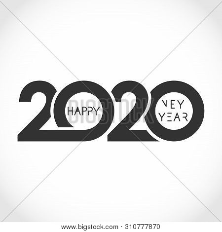 2020 Xmas Numbers. Logotype In Minimalist Style. Abstract Isolated Graphic Design Template. Congrats