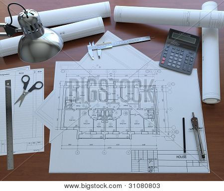 Desktop Architect. View from the top