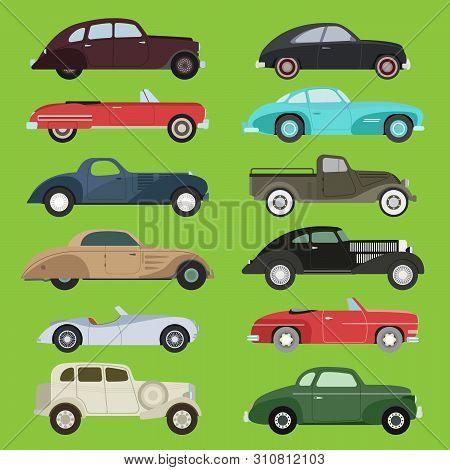 Old Vintage Retro Old Style Car Vehicle Automobile Exclusive Sport Transport Antique Garage Classic