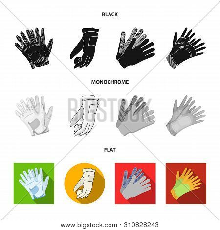 Isolated Object Of Knitted And Keeper Sign. Set Of Knitted And Hand Stock Vector Illustration.