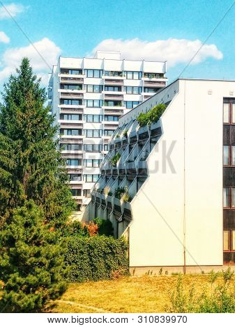 New Modern Residential Buildings With Green Technology