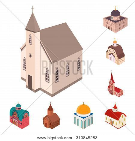 Vector Illustration Of Architecture And Building Icon. Collection Of Architecture And Clergy Stock S