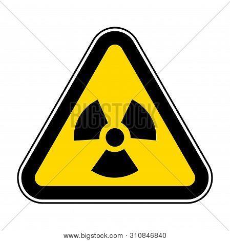 Radiation Hazard Symbol Sign Isolate On White Background,vector Illustration Eps.10
